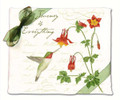 Alice's Cottage Set of 2 Cotton Flour Sack Towels HUMMINGBIRD, FLOWERS