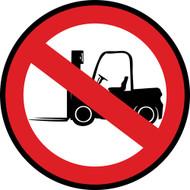 No Forklifts Custom Floor Sign