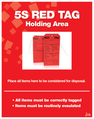 Red Tag Holding Area Poster
