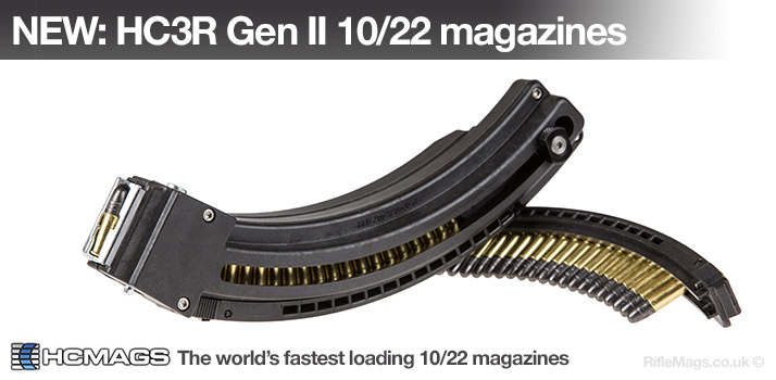 NEW: HC3R Gen II 25 round .22LR magazine for Ruger 10/22 - the fastest loading 10/22 magazine in the world