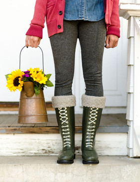 Quilted Lattice Welly Warmers