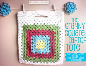 Granny Square Laptop Tote