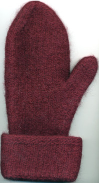Two-Needles Felted Mittens