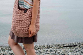 Vintage Vibe Beach Bag
