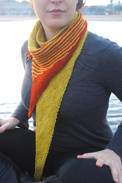 Striped Tooth Shawl