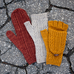 Cabled Dad Mittens