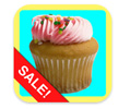The original and still best cupcake app on the iPhone & iPod Touch. Bake, decorate, and eat virtual cupcakes with all kinds of flavors & toppings! Make infinite numbers of cupcakes with NO additional in-app purchases for coins or tokens.