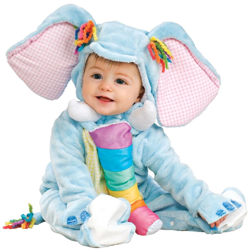 Rainbow Baby Elephant Animal Cute Fancy Dress Up Halloween Baby