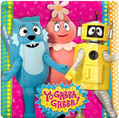 "Yo Gabba Gabba! Birthday Party 7"" Square Dessert Plates"