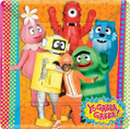 "Yo Gabba Gabba! Birthday Party 10.25"" Square Banquet Plates"