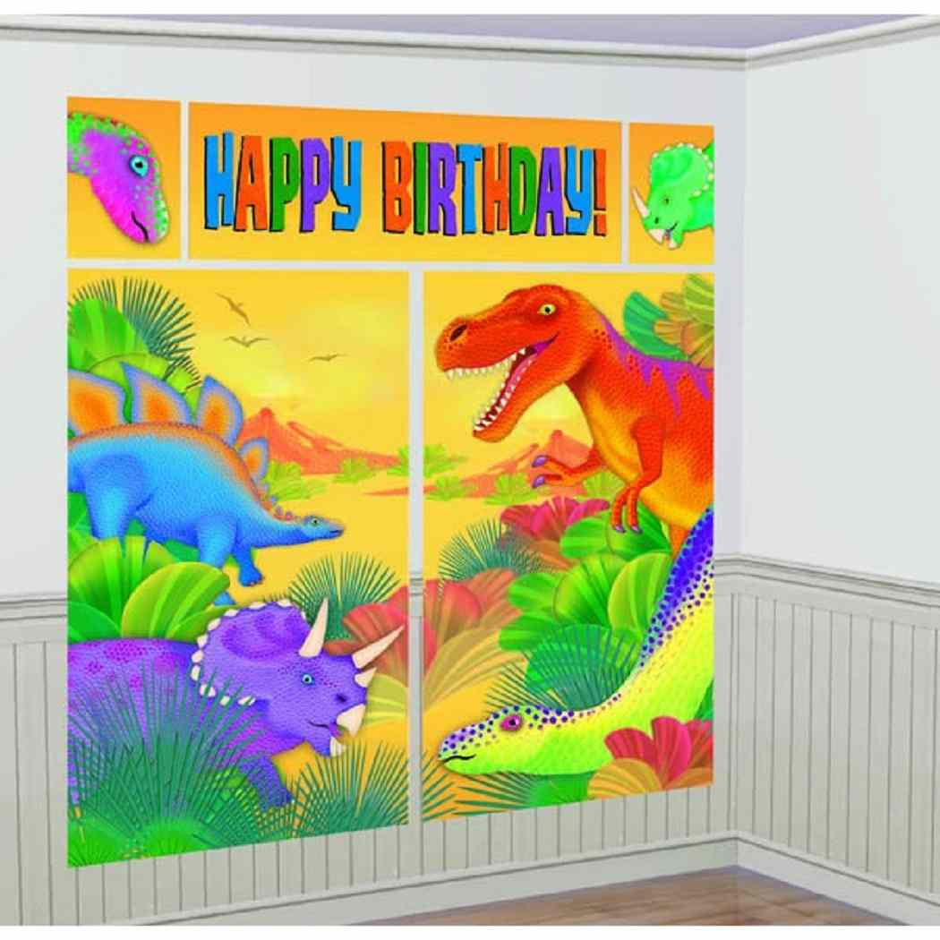 Prehistoric Party Birthday Party Giant Scene Setters Wall Decorating ...