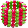 Spike Bracelet Club Candy Adult Costume Accessory GREEN/PINK
