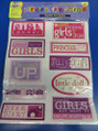 Girl Power Scrapbooking Jumbo Stickers