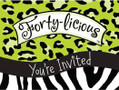 Forty-Licious Over the Hill Birthday Party Invitations