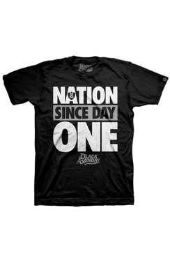 Nation Since Day One Youth Tee Shirt | Black Sunday