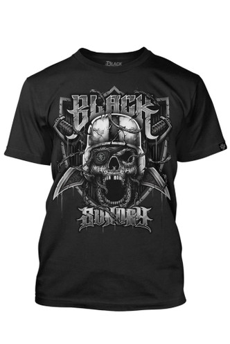 Black Sunday BARB WIRE SKULL Mens Tee