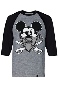 Happy Land Mens Grey Heather Raglan