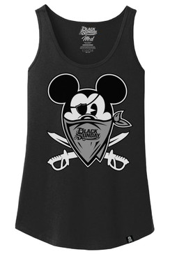BS HAPPY LAND Womens Loose Tank Top
