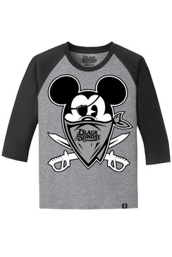 Happy Land Grey Heather Raglan - Youth