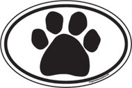 Black Paw Oval Magnet