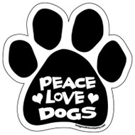 Peace Love Dogs Paw Magnet
