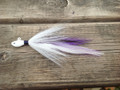 White / Purple Badger Holy Joe hair jig. Limited Edition!