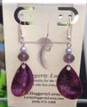 Purple Fishy Earrings - Sterling Silver