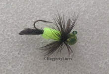 Candy Chartreuse Chicken Butt Jig.