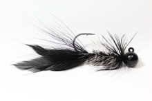 Black and White Lunker Hagg's Hellraiser Jig.  (Shown in Round Head, this item is a Lunker Head. Will update photo when available.)