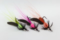 Salmon Steelhead colors -Set of 3-Haggerty Hellraiser Sculpin Bugz Fly Hot Chartreuse, Hot Pink, Hot Orange