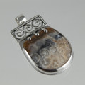 Agatized Coral Sterling Silver Pendant