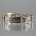 Silver Pattern # 107 Wire Cuff Bracelet