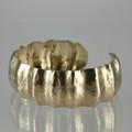 Brass Fluted Cuff Bracelet