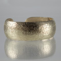Brass Synclastic Textured Cuff Bracelet