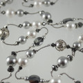 Shades of Silver Silk Swarovski Crystal Necklace