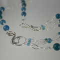 Multi-Chain Apatite & Sterling Silver Necklace