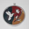 Enameled Hummingbird & Sterling Silver Pendant