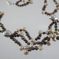 Keishi Pearl and Silver Shell Necklace