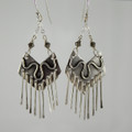 Sterling Silver Chevron Earrings with Fringe
