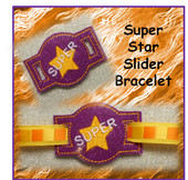 In The Hoop Ribbon Slider Bracelet Super Star Embroidery Machine Design