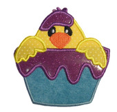 Chick in Paint cup 2 applique Embroidery Machine Design