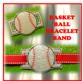 In The Hoop Ribbon Slide Baseball Embroidery Machine Design