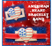 In The Hoop Ribbon Slide Bracelet American Heart Embroidery Machine Design