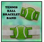 In The Hoop Ribbon Slide Bracelet Tennis Ball Embroidery Machine Design