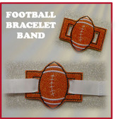 In The Hoop Ribbon Slide Bracelet Football Embroidery Machine Design