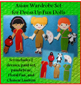 In The Hoop Asian Dress Set for Dress Up Fun Dolls