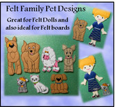 In the Hoop Felt Play Pets Embroidery Machine Design Set