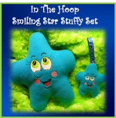 In The Hoop Smiling Star Stuffie Embroidery Machine Design