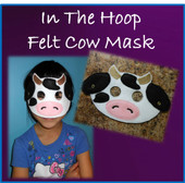In The Hoop Felt Cow Mask Design For Embroidery Machine
