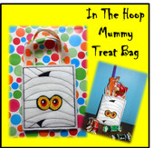 In The Hoop Mummy Treat Bag Embroidery Machine Design